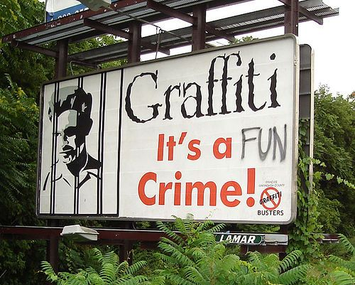 billboard graffiti is not a crime