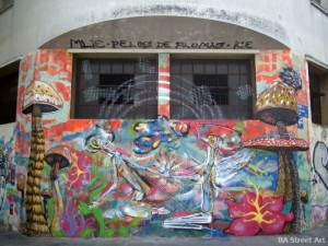 Ice arte, Mlie, Pelos de Plumas colegiales buenos aires street art buenosairesstreetart.com