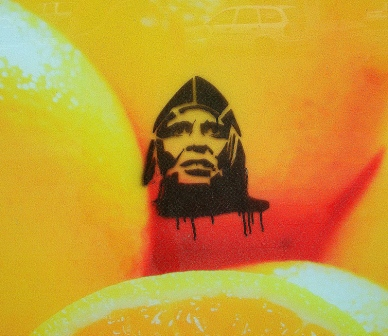 klaus kinski aguirre wrath of god graffiti stencil buenos aires street art