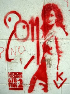 Cristina CFK cristina fernandez de kirchner stencil buenos aires street art
