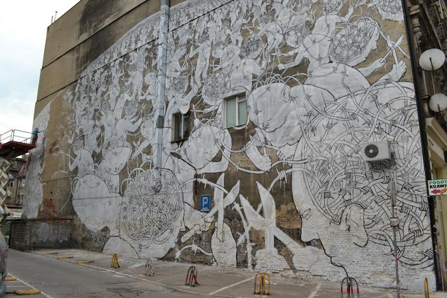 New Works By Blu In Poland Ba Street Art