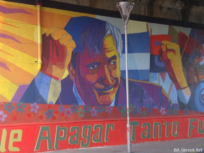 political graffiti Nestor Kirchner mural Buenos Aires street art © buenosairesstreetart.com