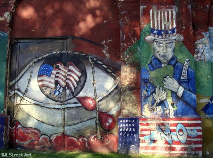 Anti USA graffiti buenos aires street art © buenosairesstreetart.com