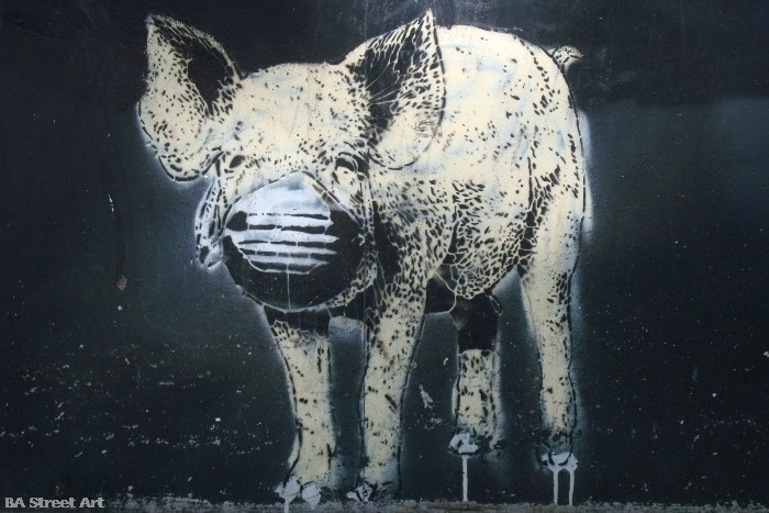 gripe porcina swine flu graffiti buenos aires street art buenosairesstreetart.com estenciles (7)