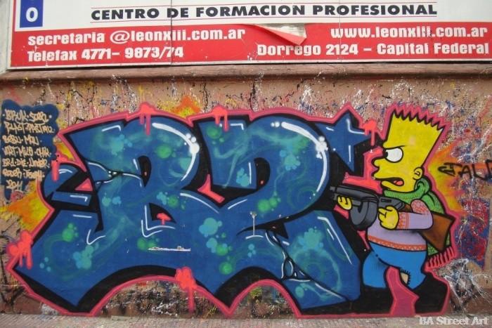 B2 bastardos crew buenos aires graffiti tour buenosairesstreetart.com BA street art bart