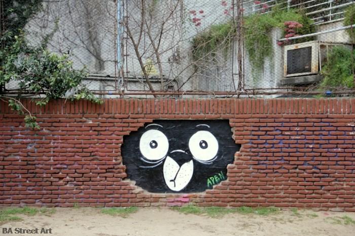 apen arte urbano buenos aires street art bear osito © BA Street Art Tours buenosairesstreetart.com