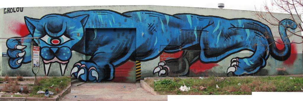 cyclops pantera  mural quilmes grolou