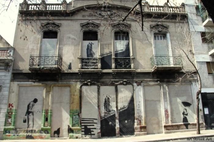banksy buenos aires house san telmo street art photos © BA Street Art buenosairesstreetart.com