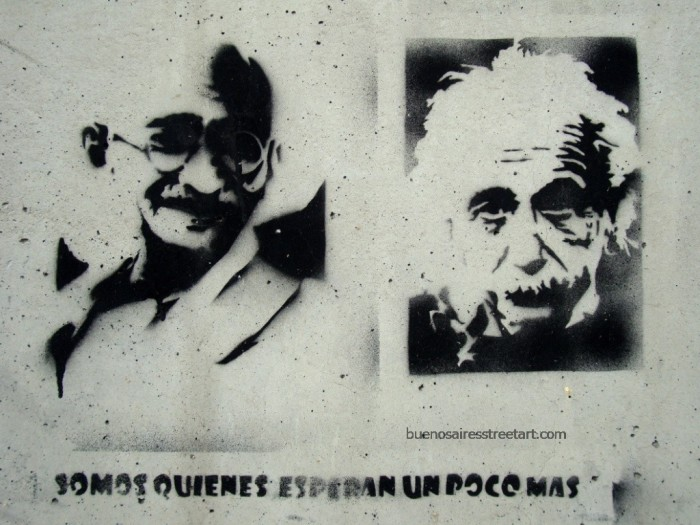 Gandhi stencil buenos aires buenosairesstreetart.com