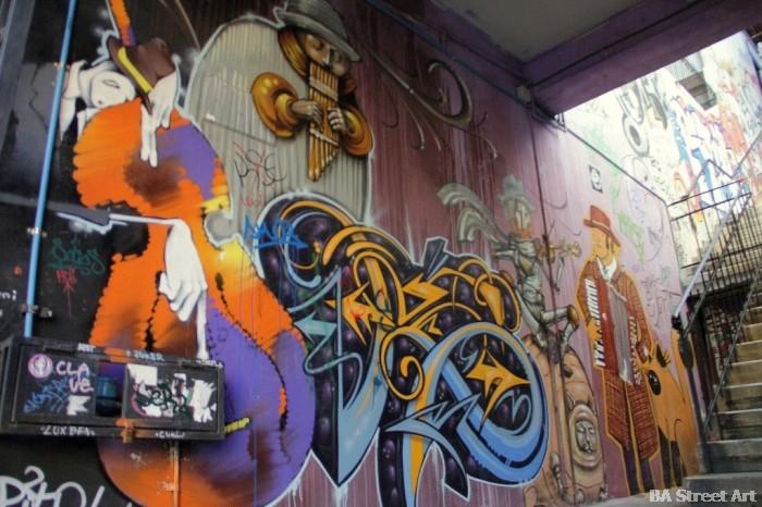 Jaz street art Fisek, Inti and Charquipunk buenosairesstreetart.com