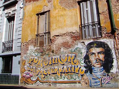che guevara graffiti san telmo street art buenos aires buenosairesstreetart.com