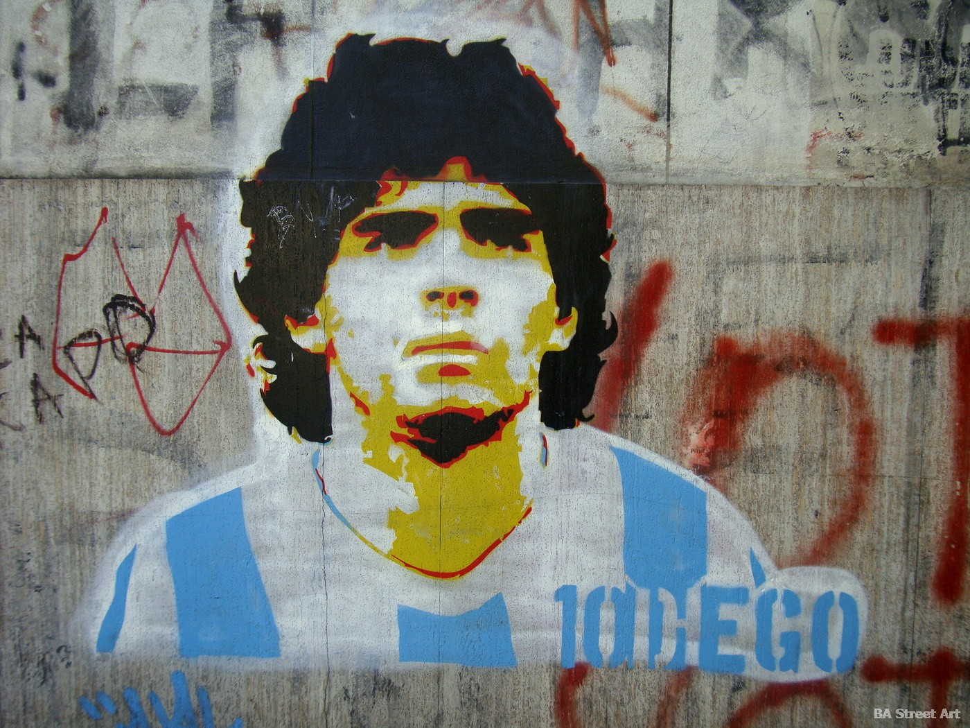 Maradona street art in Buenos Aires | Buenos Aires Street Art