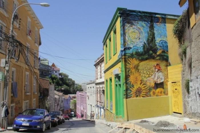 van gogh mural valparaiso