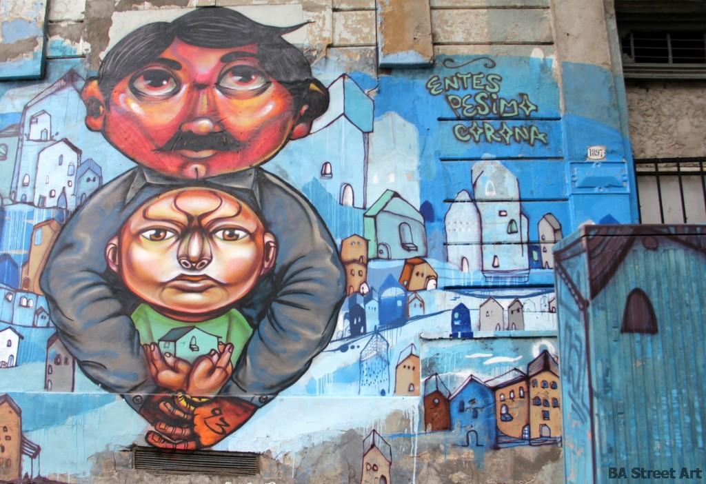Entes Pesimo street art murales argentina buenos aires