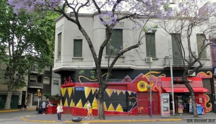 buenos aires graffiti eMePeCe crocodile BA Street Art buenosairesstreetart.com