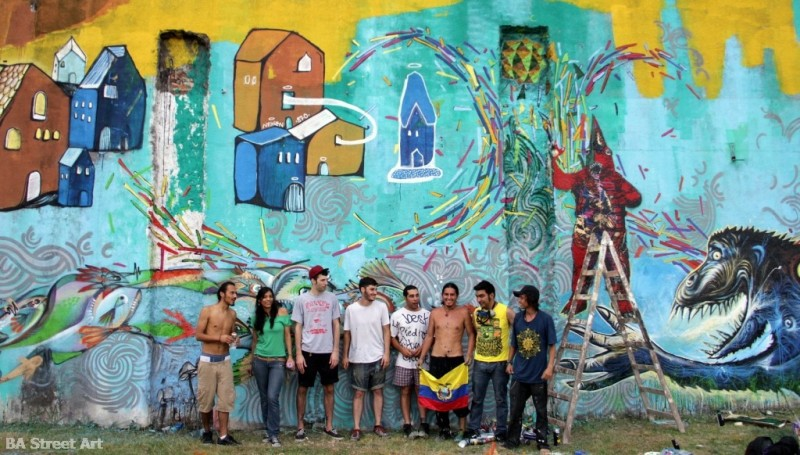 steep street artist mural buenos aires argentina meeting of styles buenosairesstreetart.com