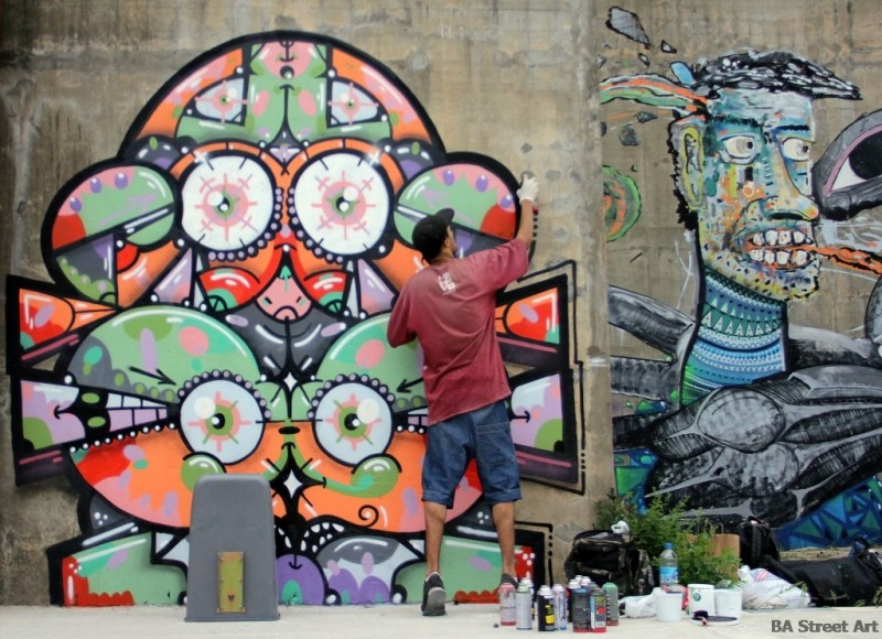 Neox Tekaz graffiti la plata buenos aires street art