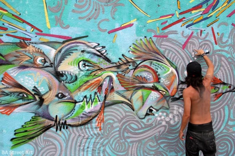 Street artists paint wall of fantasy in Villa Ballester | BA Street Art