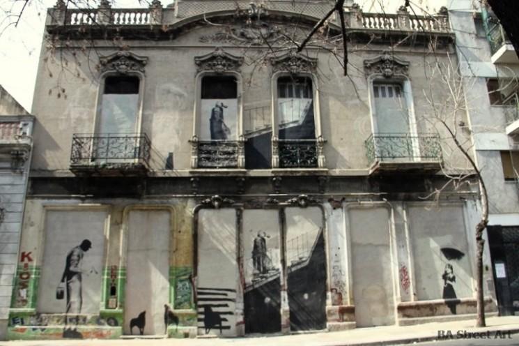 Banksy buenos aires street art house © BA Street Art buenosairesstreetart.com