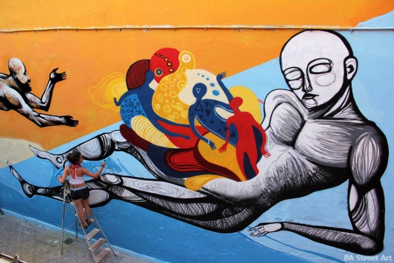 Cuore painting yesterday at El Quetzal in Palermo