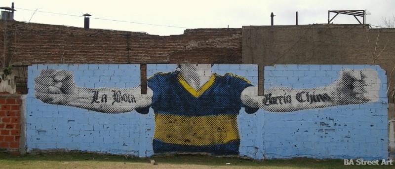 boca futbol mural