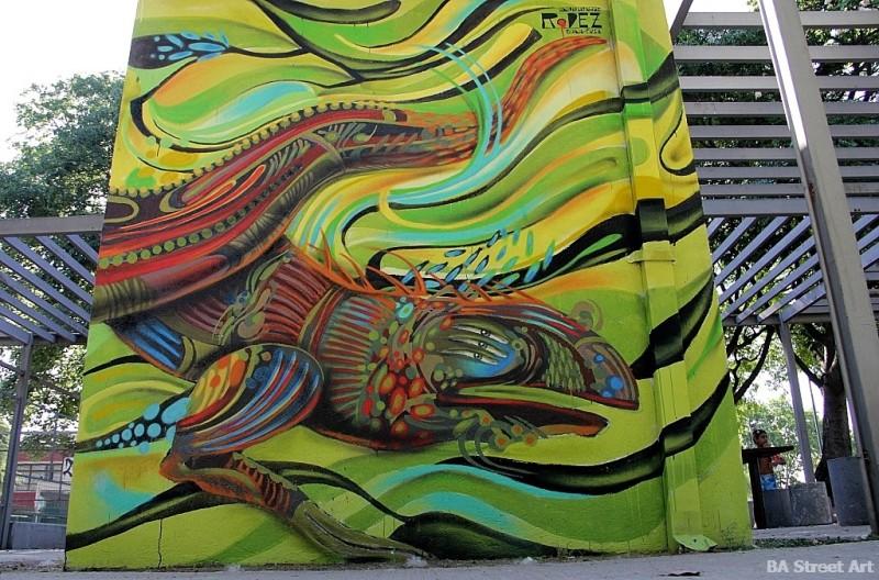 Iguanas graffiti Rodez buenos aires