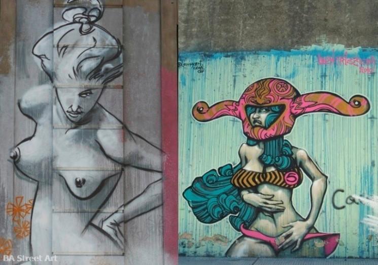 street art tour buenos aires graffiti artist Lean Frizzera murales fotos © BA Street Art  buenosairesstreetart.com