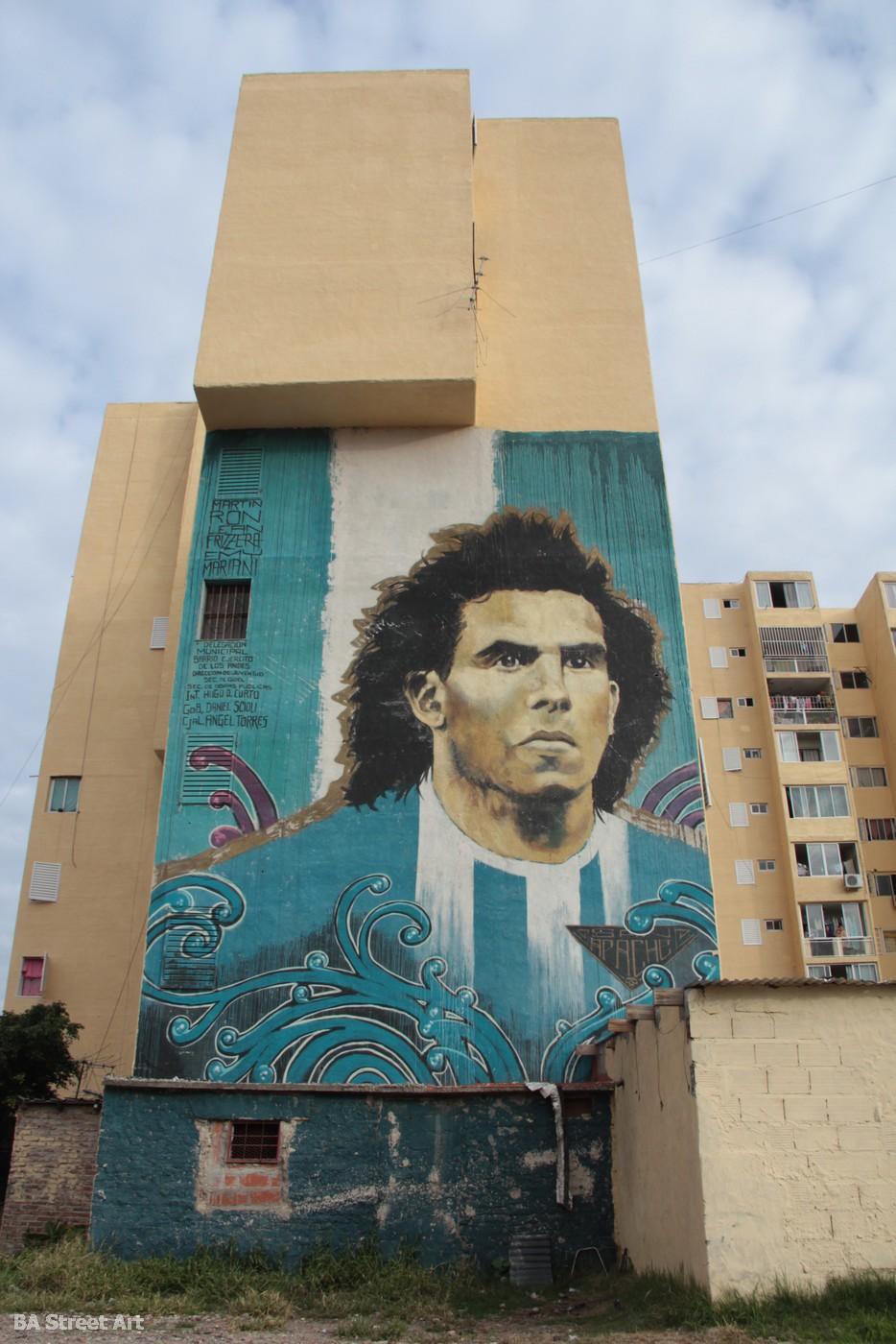 carlos tevez manchester city juventus manchester united street art argentina mural buenos aires buenosairesstreetart.com