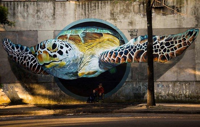 tortuga mural turtle street art argentina barracas buenos aires buenosairesstreetart.com