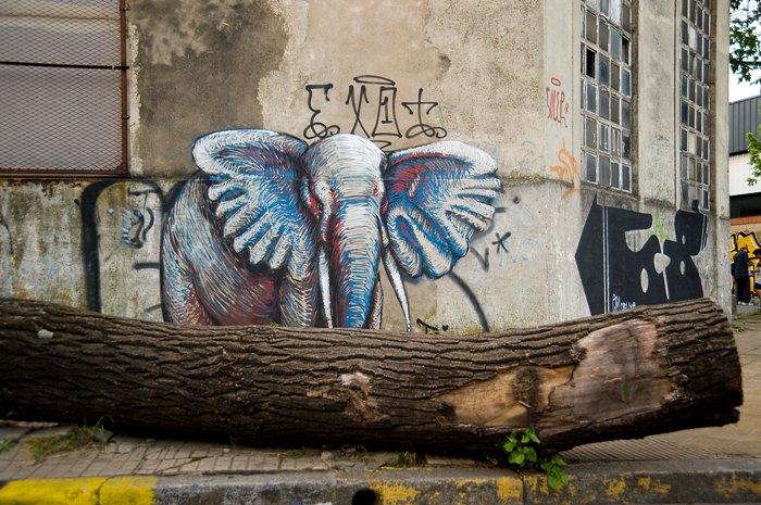 elephant street at elefante mural buenos aires argentinat buenosairesstreetart.com