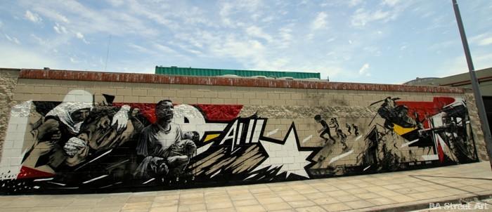 israel war mural palestine street art buenosairesstreetart.com