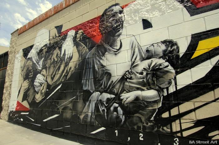 gaza israel conflict graffiti buenos aires street art buenosairesstreet.com
