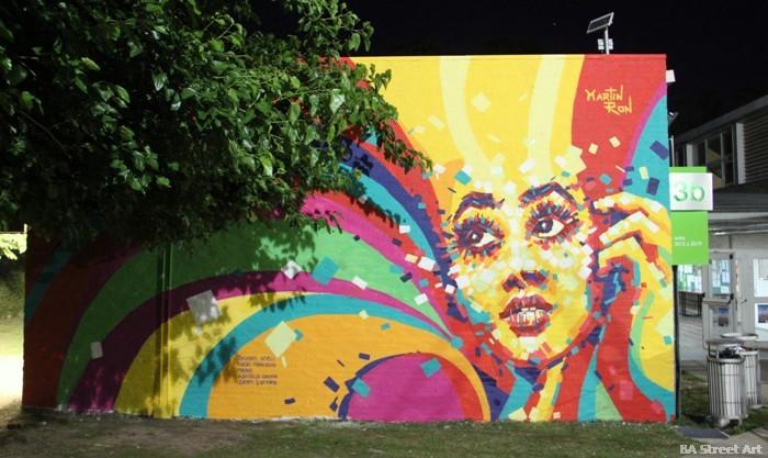 Artistas callejeros brillan en urban fest a la ungs ba for Graffitis y murales callejeros