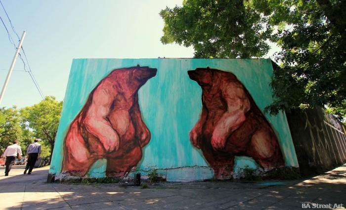 jaz graffiti bears buenos aires murales argentina