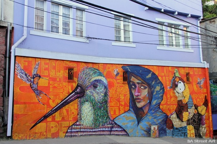 inti valparaiso la robot de madera and Charquipunk chile street art buenosairesstreetart.com