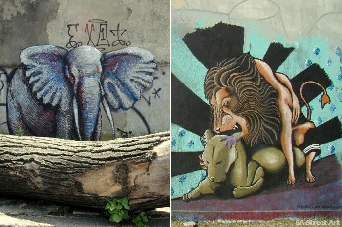 buenos aires graffiti tour zoo animals street art buenosairesstreetart.com