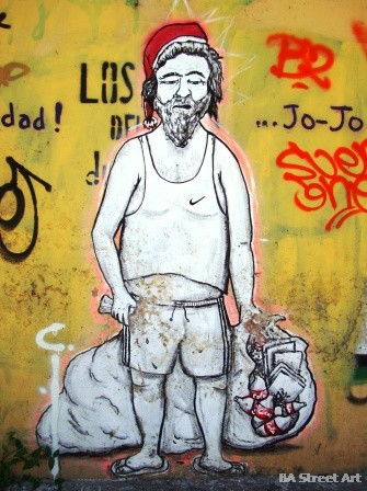 christmas graffiti buenos aires street art cartonero buenosairesstreetart.com