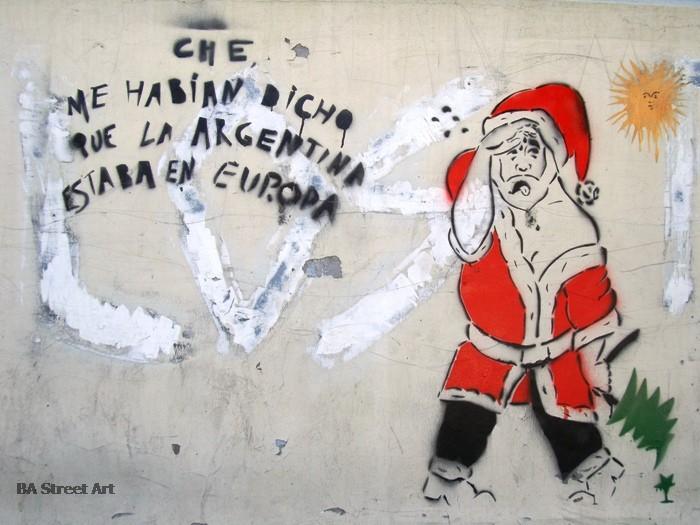 navidad graffiti papa noel buenos aires buenosairesstreetart.com