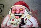 papa noel graffiti buenos aires navidad buenosairesstreetart.com