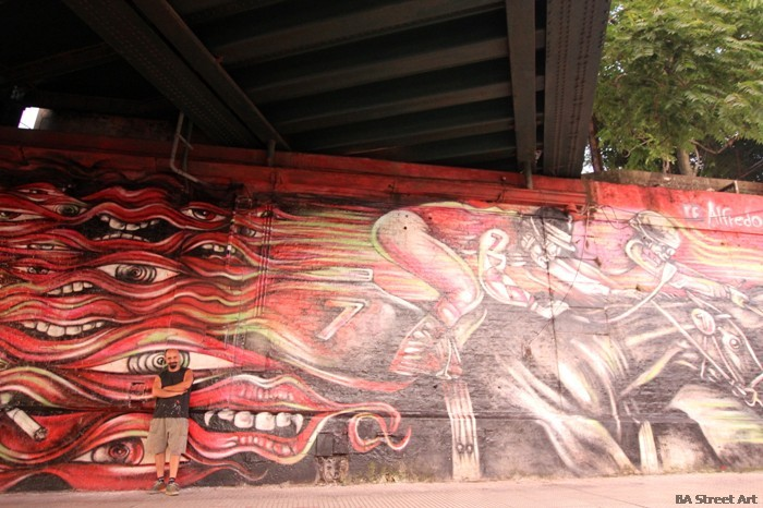 Irineo Leguizamo mural alfredo segatori muralista buenos aires street art buenosairesstreetart.com