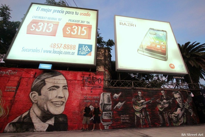 carlos gardel tango buenos aires mural argentina buenosairesstreetart.com