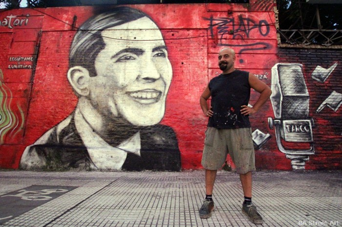 carlos gardel mural buenos aires alfredo segatori arte urbano buenosairesstreetart.com