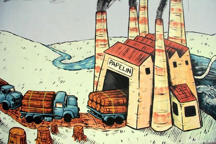 Dibujos De Fabricas Contaminando