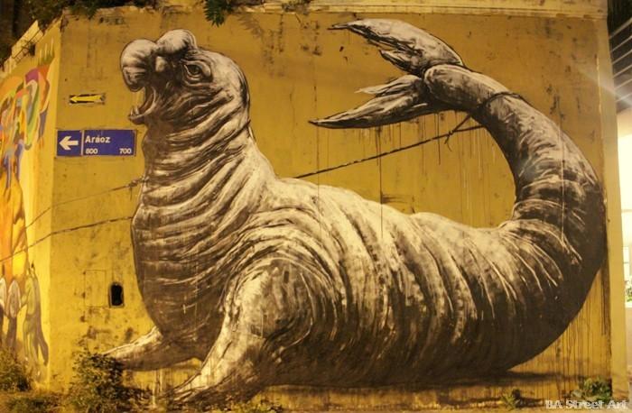 roa buenos aires sea lion mural street art buenosairesstreetart.com