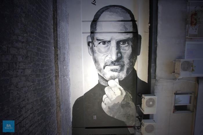 steve jobs graffiti apple founder buenos aires street art mario calvo buenosairesstreetart.com