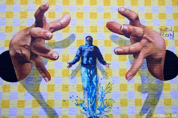 sabotaje al montaje muralista artista islas canarias buenos aires argentina buenosairesstreetart.com