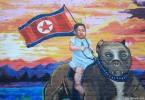 north korea kim jong un graffiti street art  buenosairesstreetart.com
