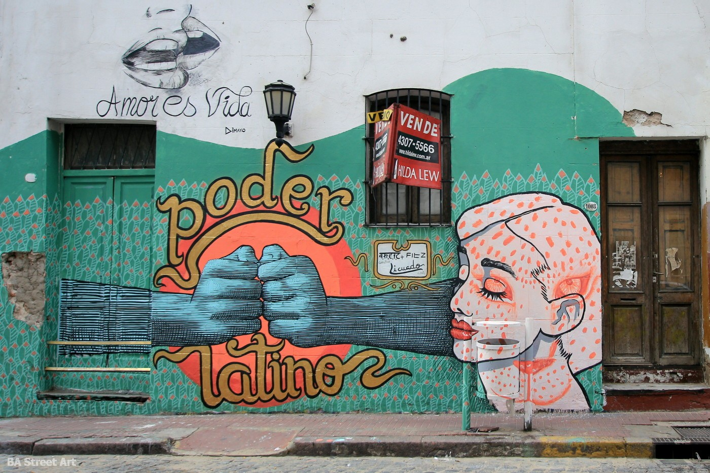 Theic And Fitz Paint New Mural In San Telmo Ba Street Art