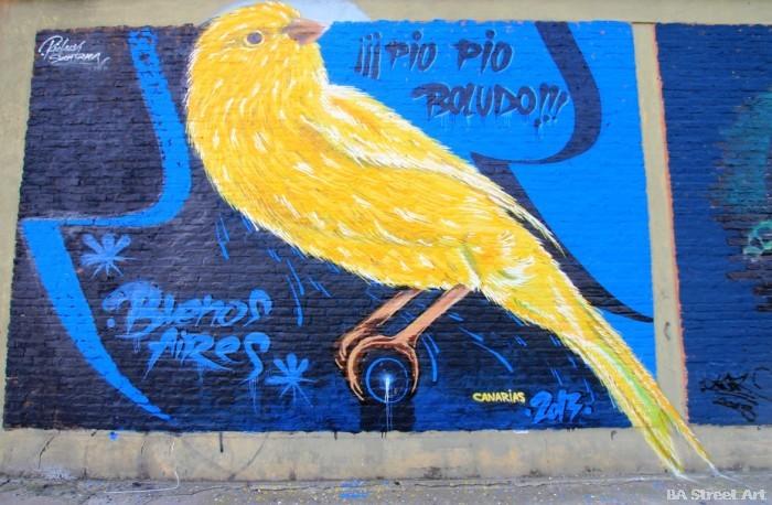 sabotaje al montaje canary islands street art buenos aires buenosairesstreetart.com