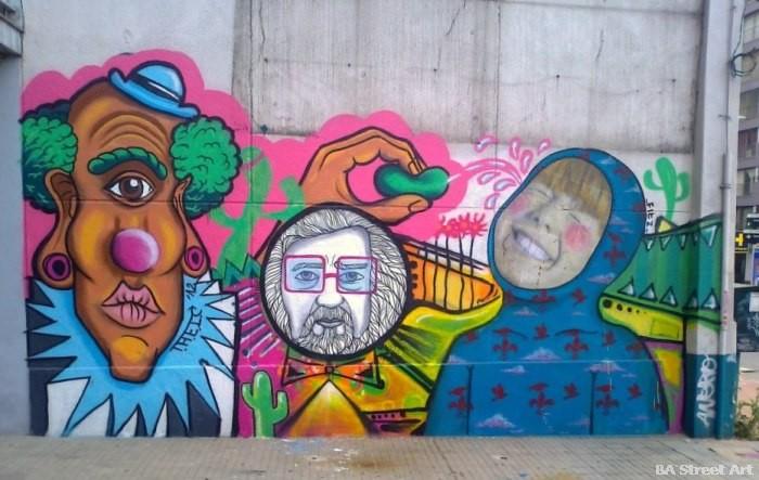 Colectivo Licuado montevideo uruguay mural artistas theic fitz buenosairesstreetart.com
